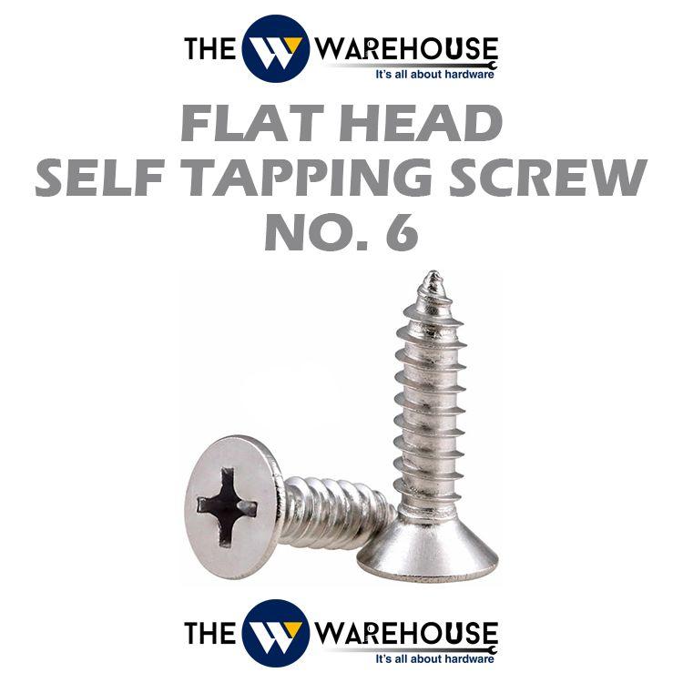 Flat Head Self Tapping Screw #6