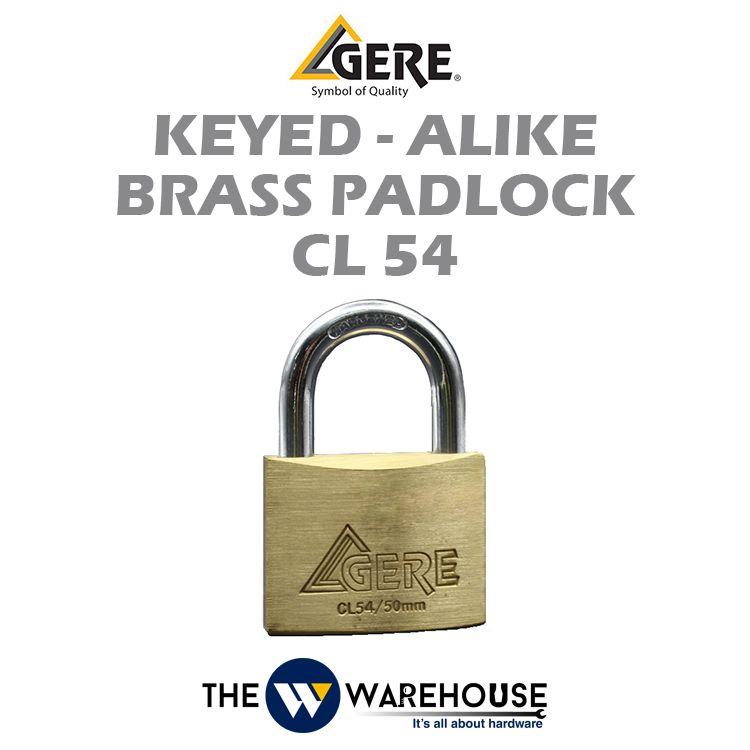 GERE Keyed-Alike Brass Padlock CL54 50mm