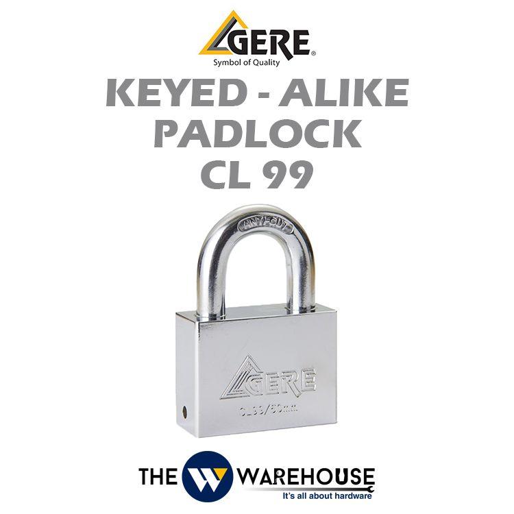 GERE Keyed-Alike Padlock CL99 50mm