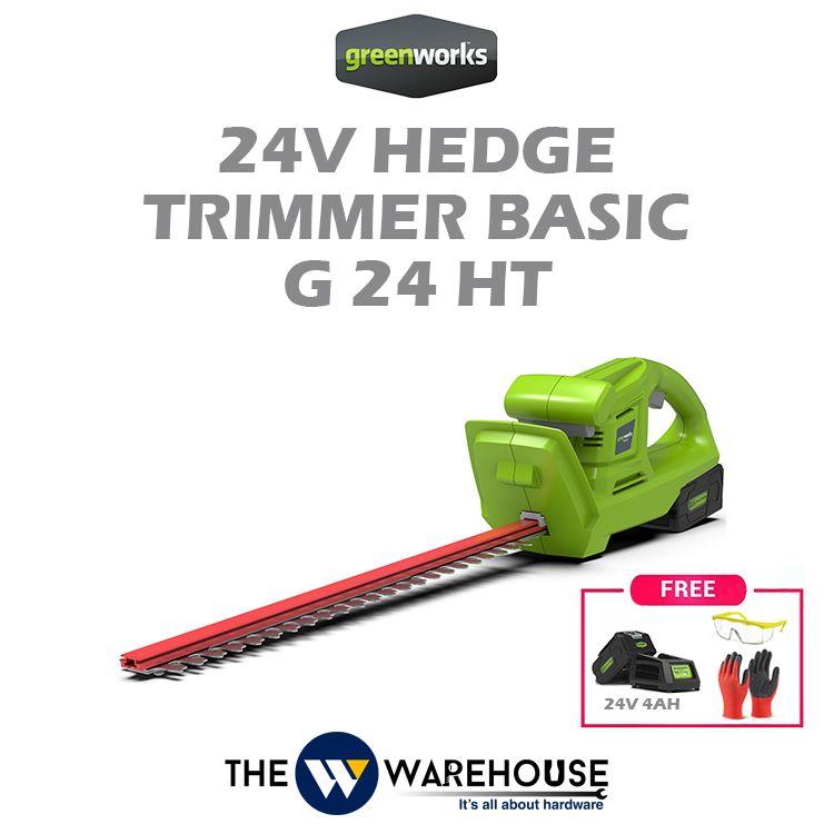 Greenworks 24V Hedge Trimmer Basic G24HT