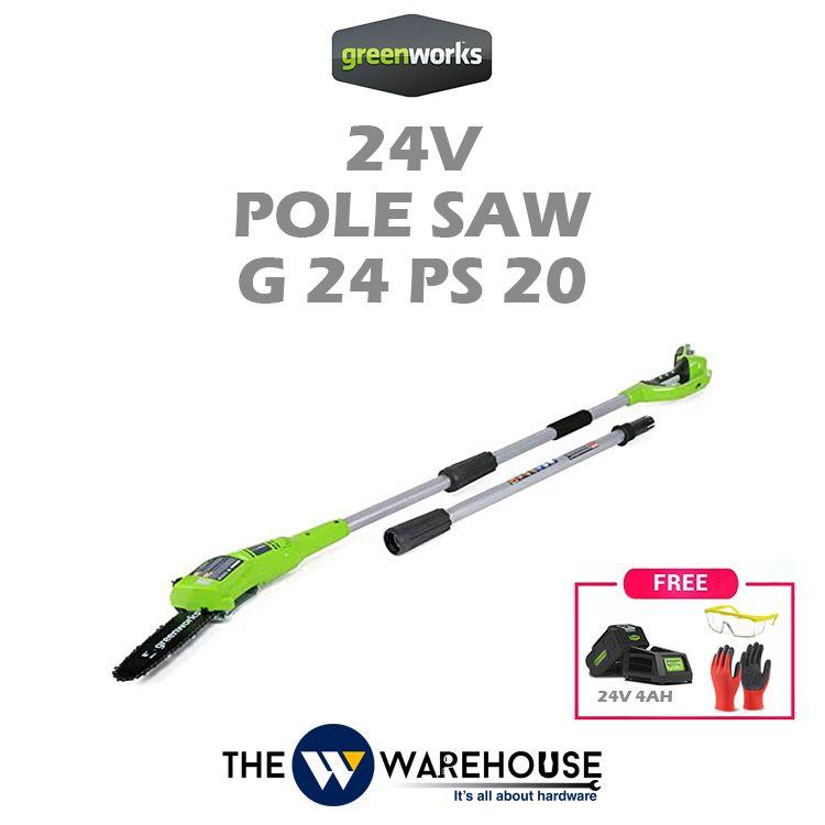 Greenworks 24V Pole Saw G24PS20