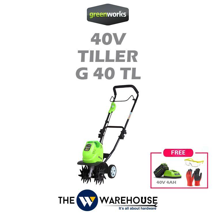 Greenworks 40V Tiller G40TL