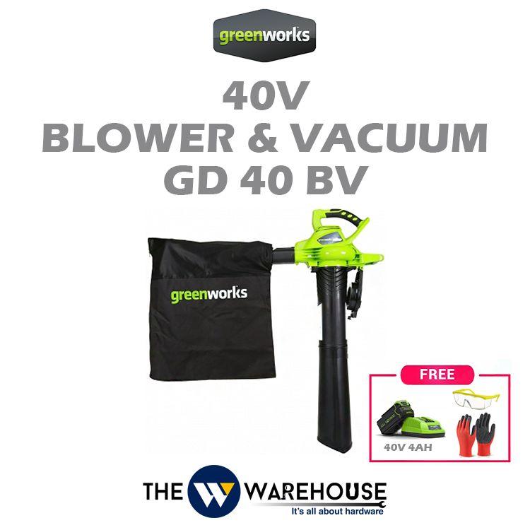 Greenworks 40V Blower & Vacuum GD40BV