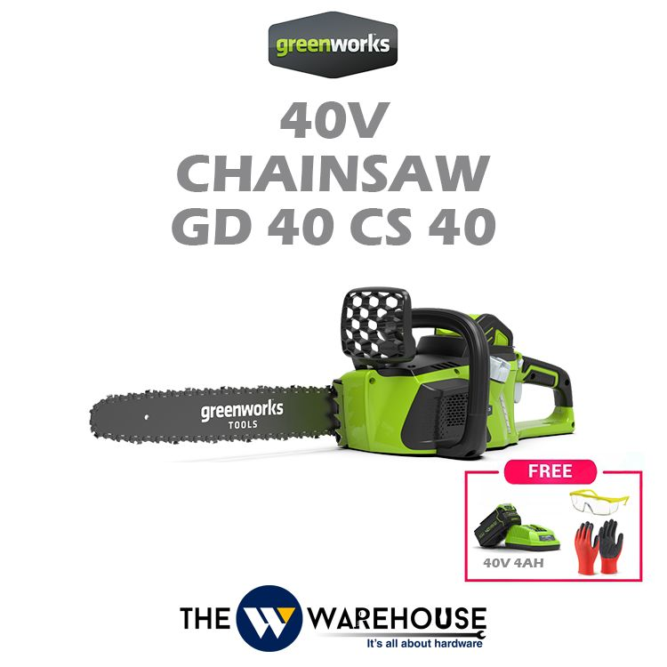 Greenworks 40V Chainsaw 40mm GD40CS40