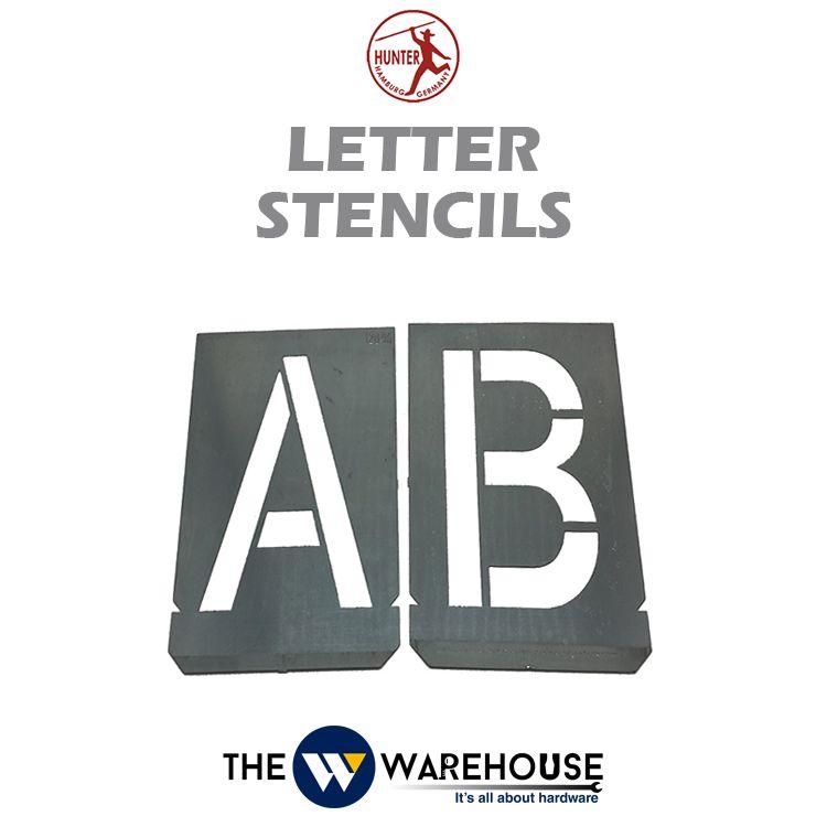 Hunter Letter Stencils