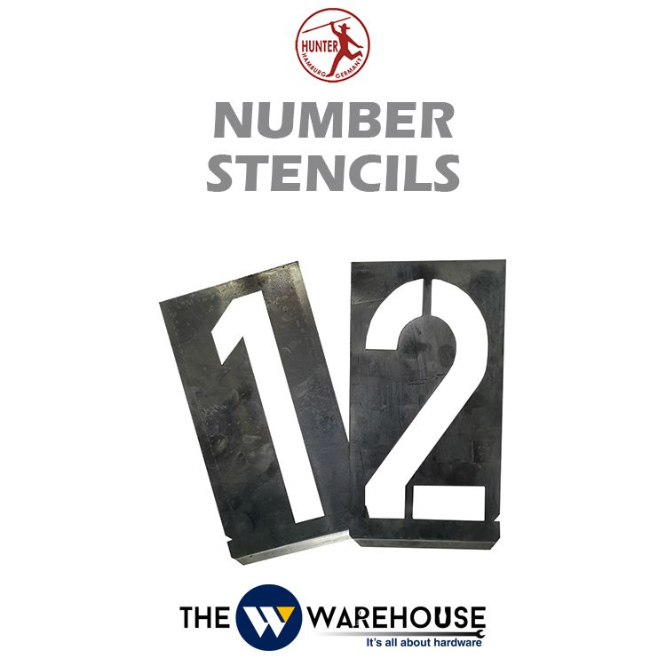 Hunter Number Stencils