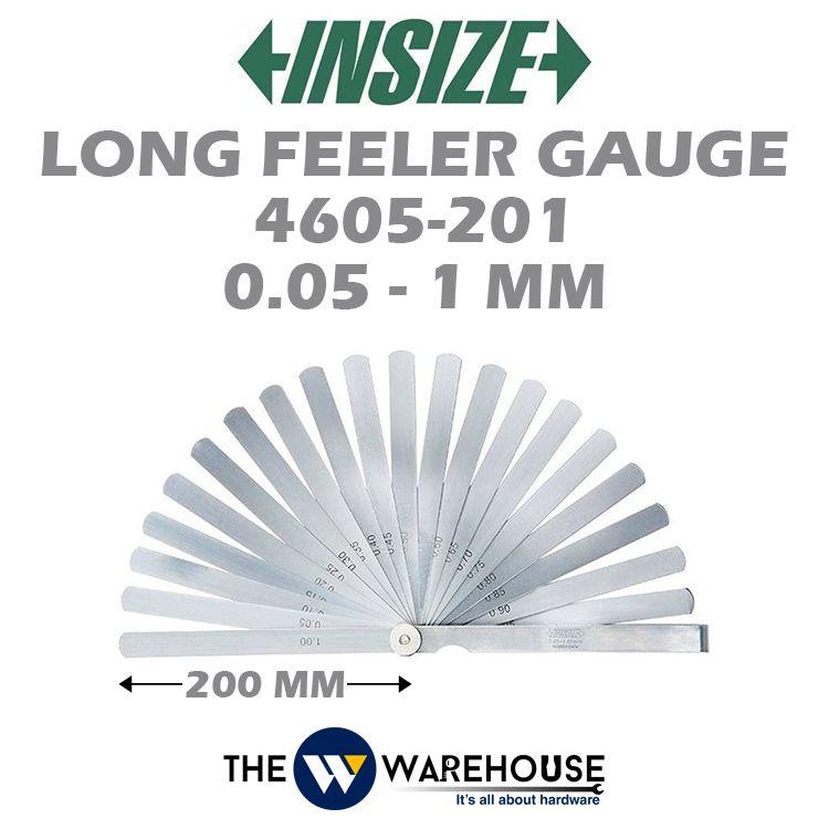 Insize Long Feeler Gauge 4605-201