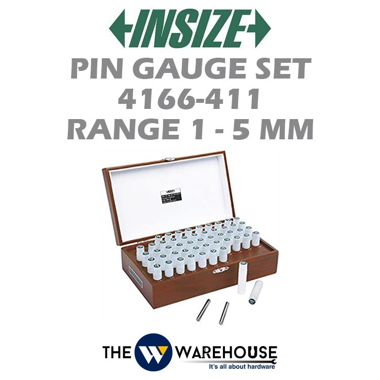 Insize Range 1-5 mm Pin Gauge Set 4166-411