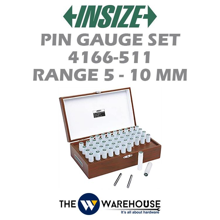 Insize Range 5-10 mm Pin Gauge Set 4166-511