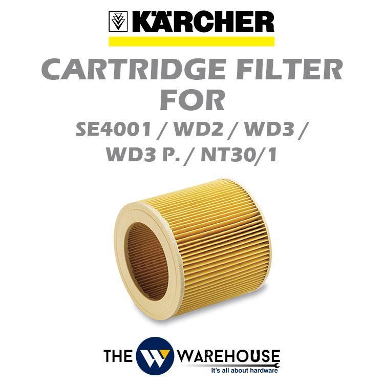 Karcher Cartridge Filter for SE4001 / WD2 / WD3 / WD3 P. / NT30/1