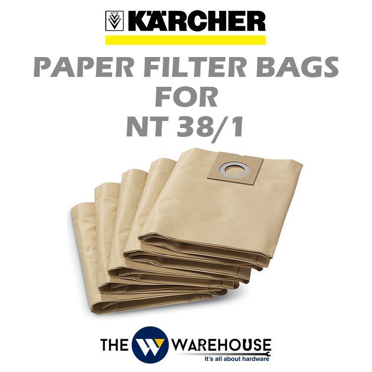 Karcher Paper Filter Bag for NT38/1