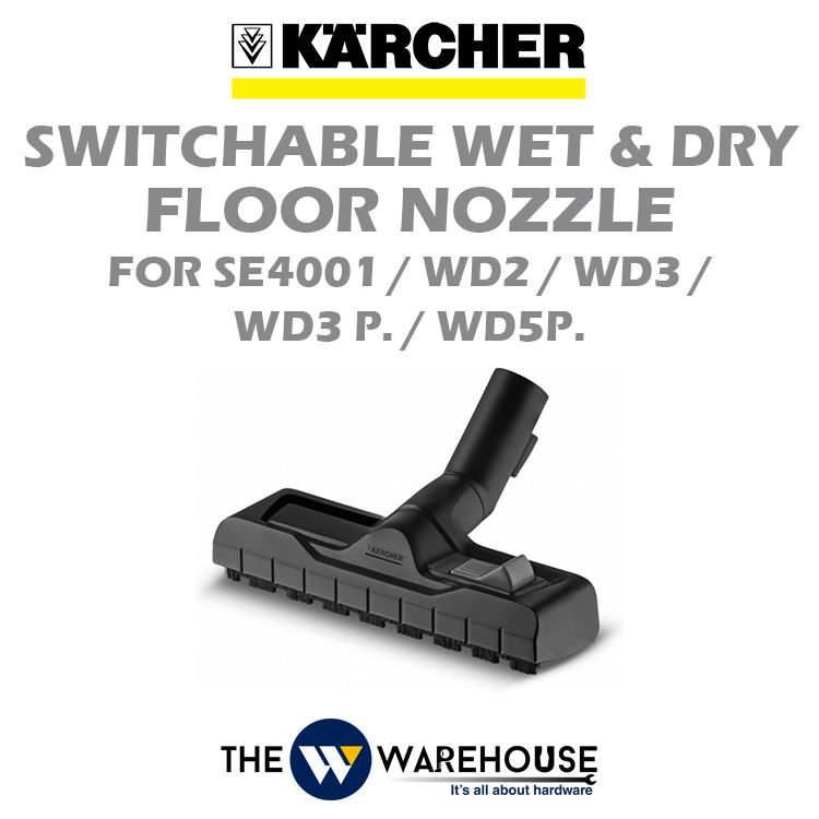 Karcher Switchable Wet and Dry Floor Nozzle for SE4001 / WD2 / WD3 / WD3 P. / WD5 P.