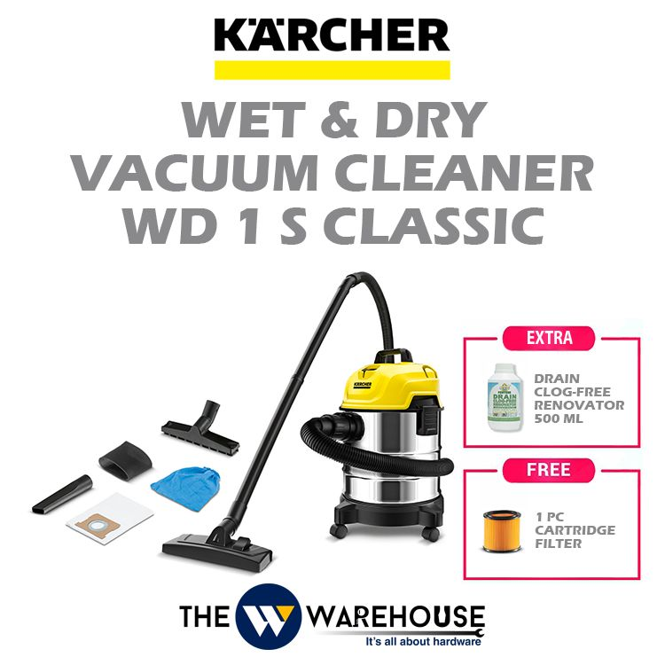 Karcher Wet & Dry Vacuum Cleaner WD 1S Classic