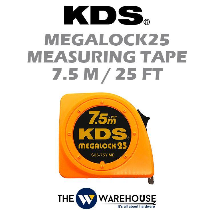 KDS Megalock25 Measuring Tape 7.5m