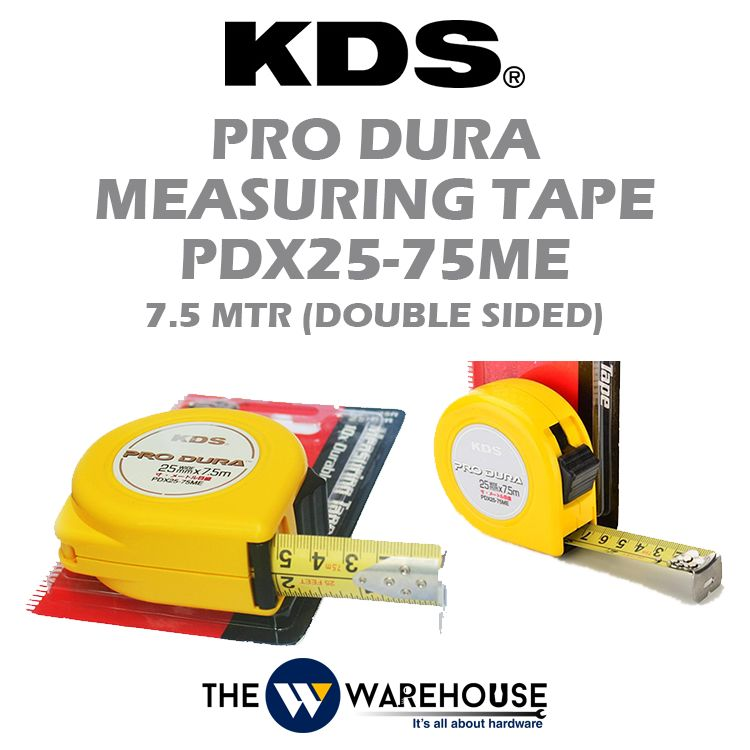 KDS Pro Dura Double Sided Measuring Tape 7.5m