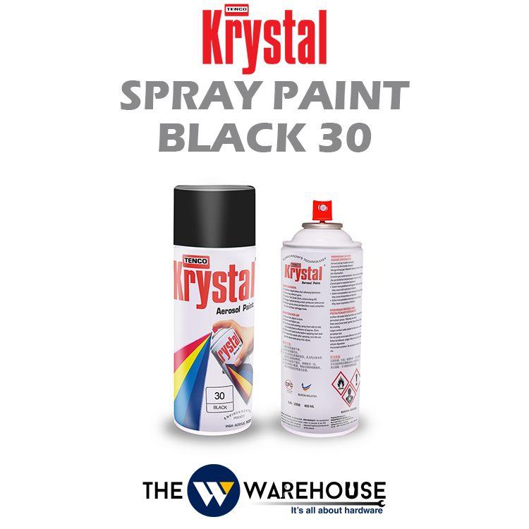 Krystal Spray Paint Black 30