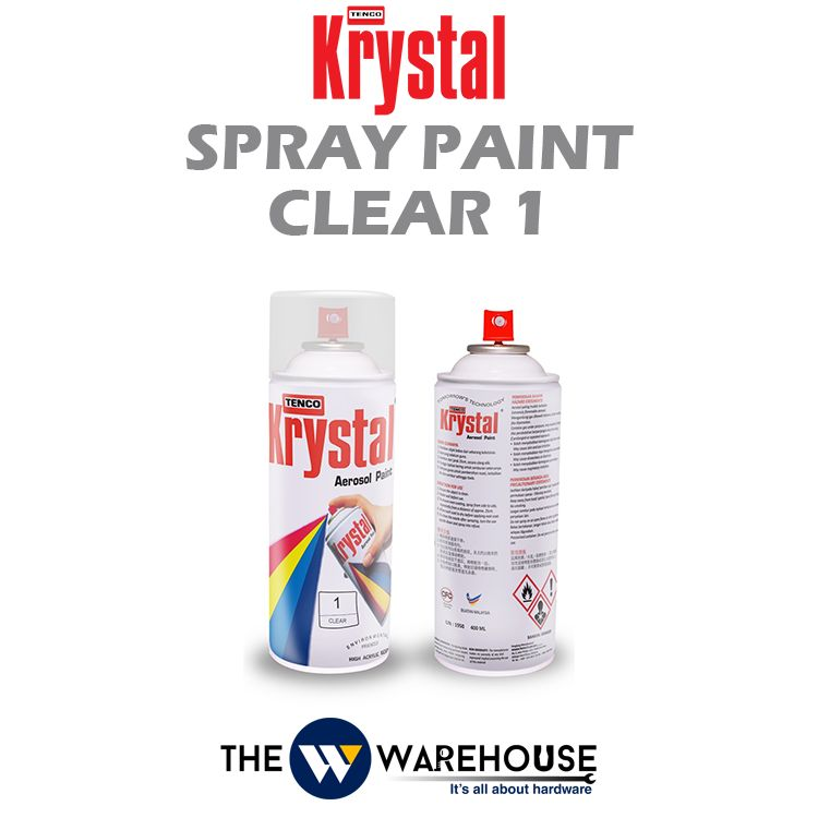Krystal Spray Paint Clear 1