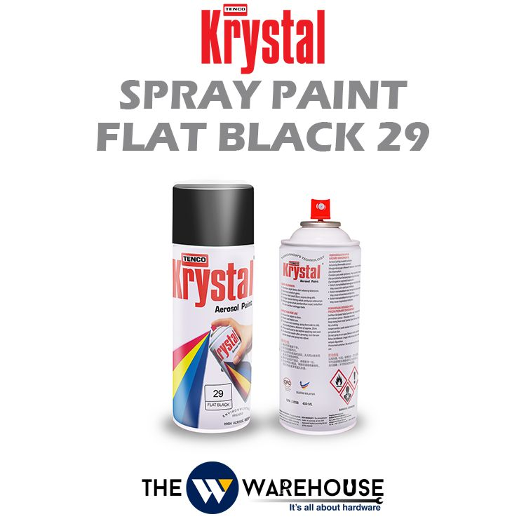 Krystal Spray Paint Flat Black 29