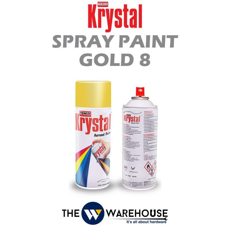 Krystal Spray Paint Gold 8