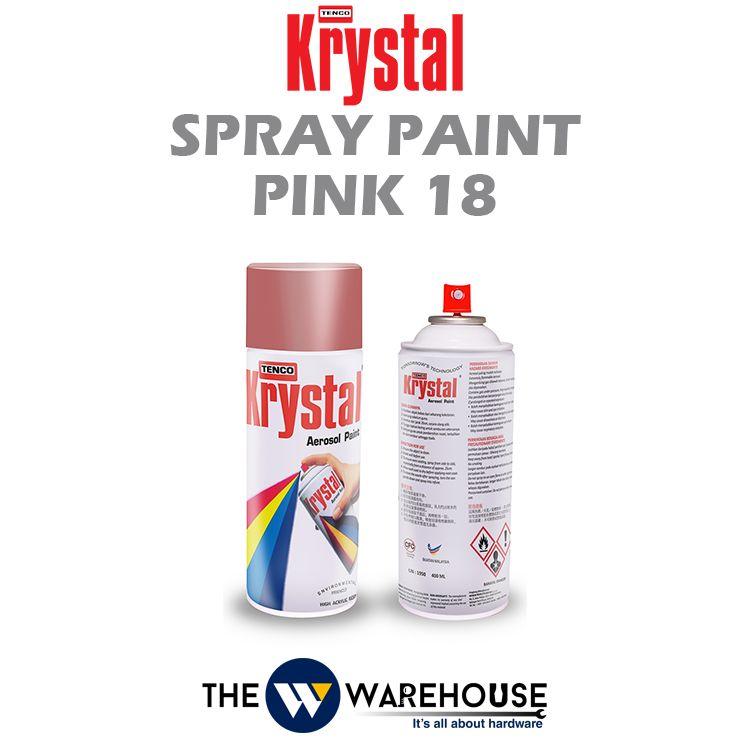 Krystal Spray Paint Pink 18