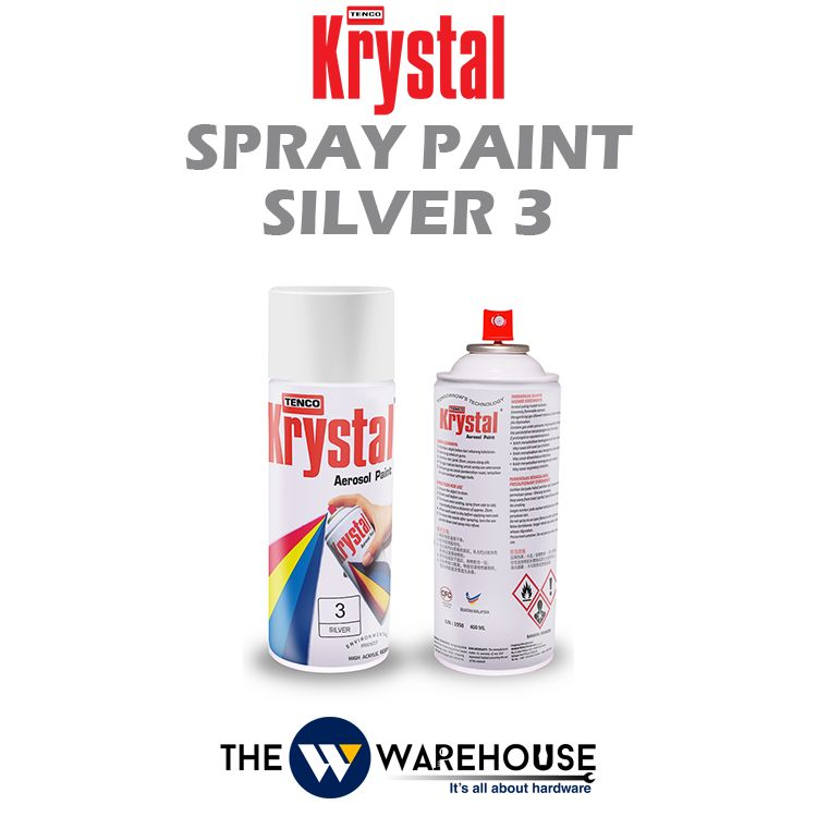 Krystal Spray Paint Silver 3