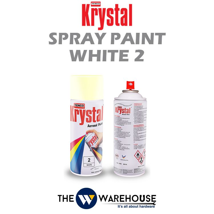 Krystal Spray Paint White 2