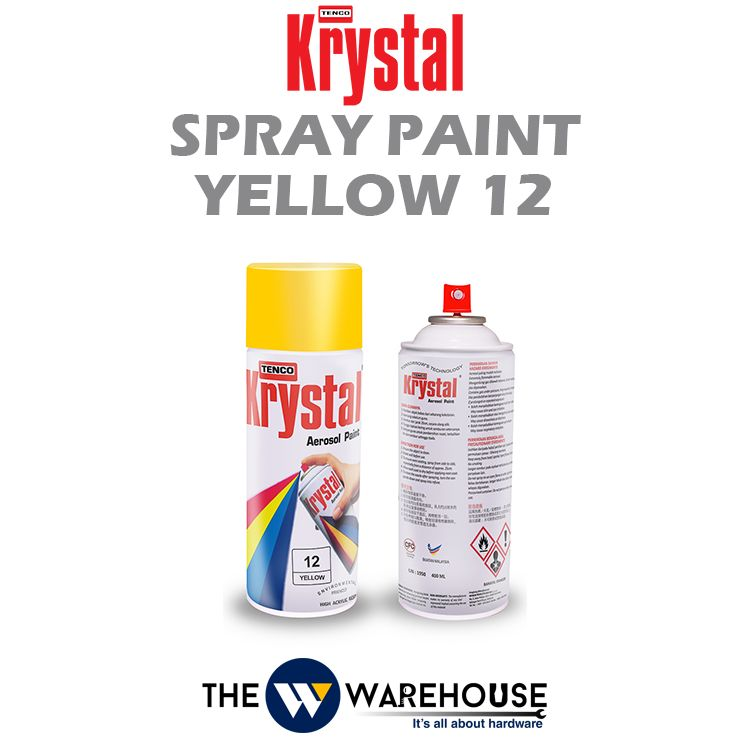 Krystal Spray Paint Yellow 12