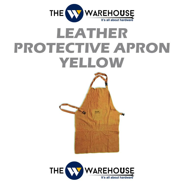Leather Protective Apron - Yellow