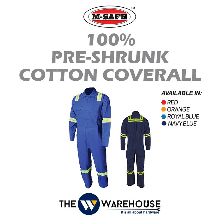 M-SAFE 100% Pre-Shrunk Cotton Coverall MSC Series