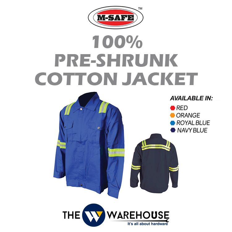 M-SAFE 100% Pre-Shrunk Cotton Jacket MSJ Series