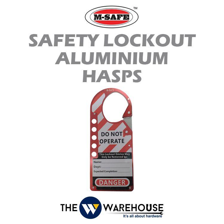 M-SAFE Safety Lockout Aluminium Hasps M-K54