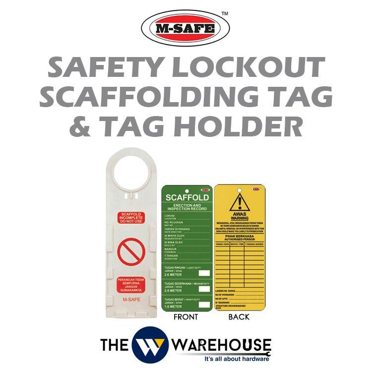 M-SAFE Safety Lockout Scaffolding Tag & Tag Holder