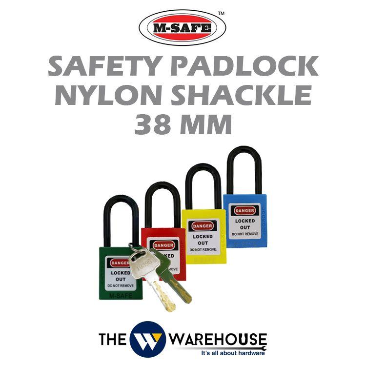 M-SAFE Safety Padlock Nylon Shackle 38 mm