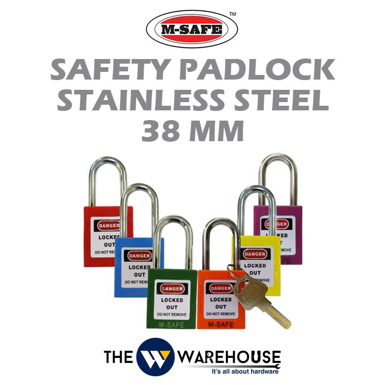 M-SAFE Safety Padlock Stainless Steel M-SPL