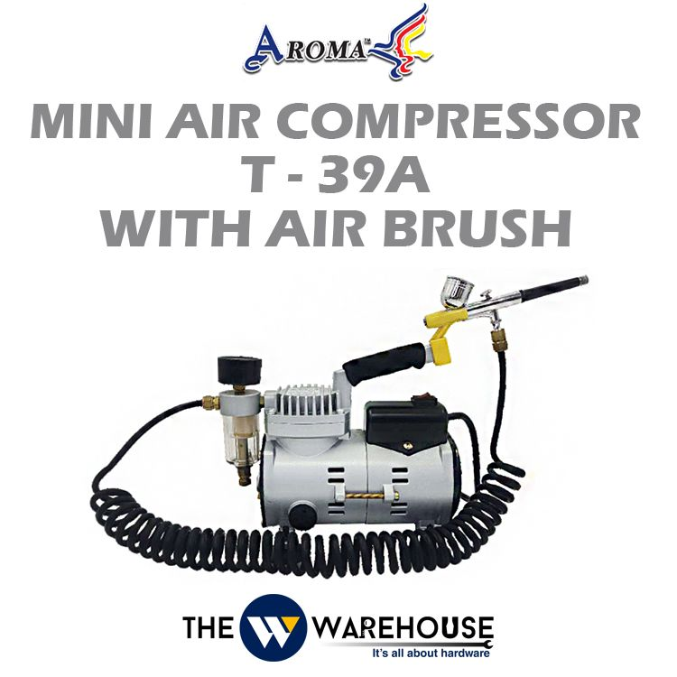 AROMA Mini Air Compressor T-39A (with Air Brush)