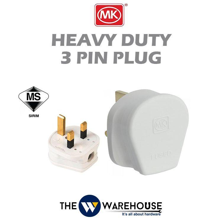 MK Heavy Duty 3 Pin Plug