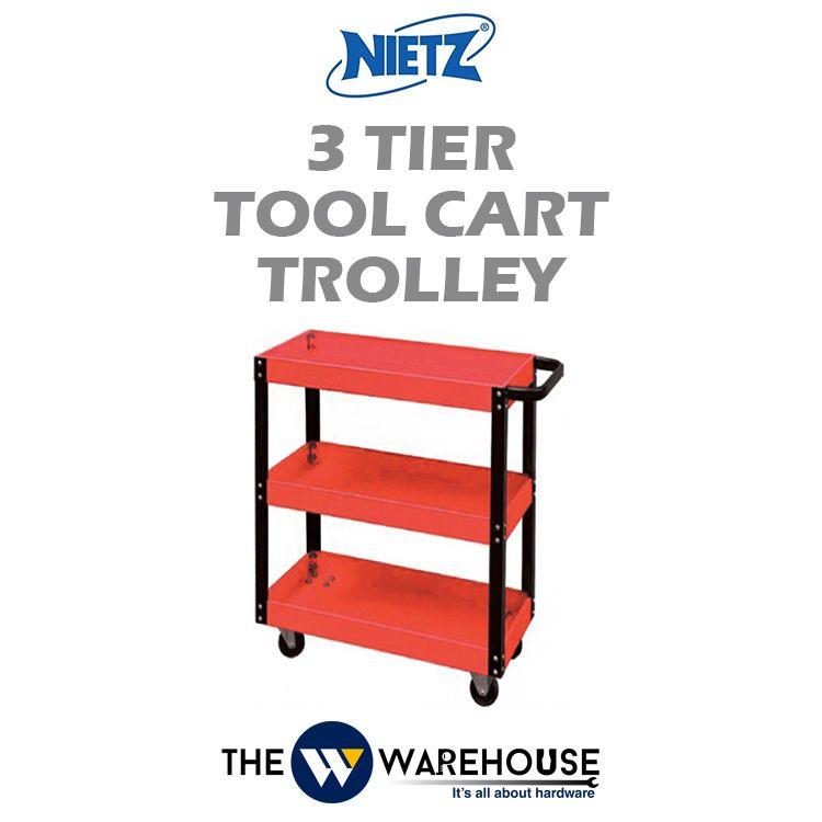 Nietz 3 Tier Tool Cart Trolley