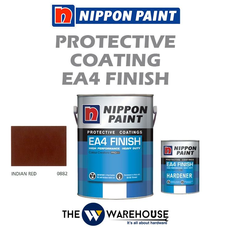 Nippon High Performance Protective Coating - EA4 Finish - Indian Red 0882