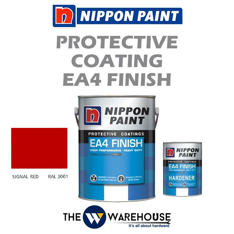 Nippon High Performance Protective Coating - EA4 Finish - Signal Red RAL3001