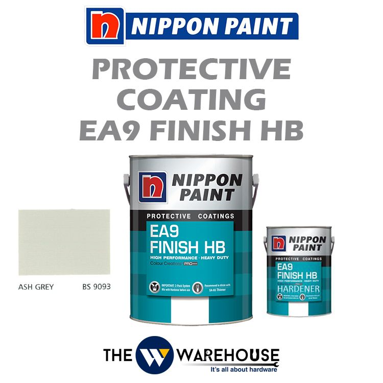 Nippon High Performance Protective Coating - EA9 Finish HB - Ash Grey BS9093