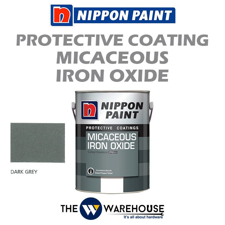 Nippon High Performance Protective Coating - Micaceous Iron Oxide - Dark Grey