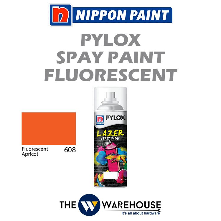 Nippon Pylox Spray Paint Fluorescent Apricot 608