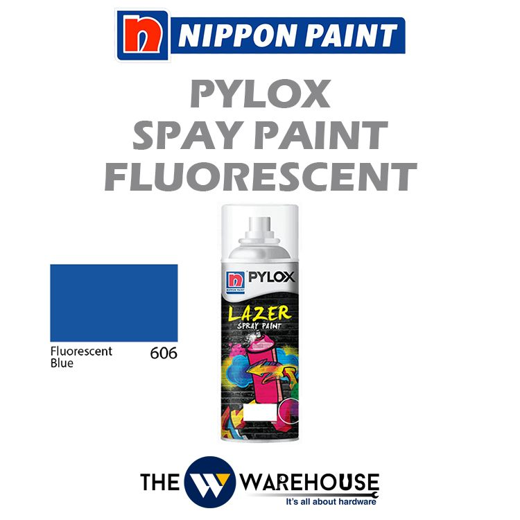 Nippon Pylox Spray Paint Fluorescent Blue 606