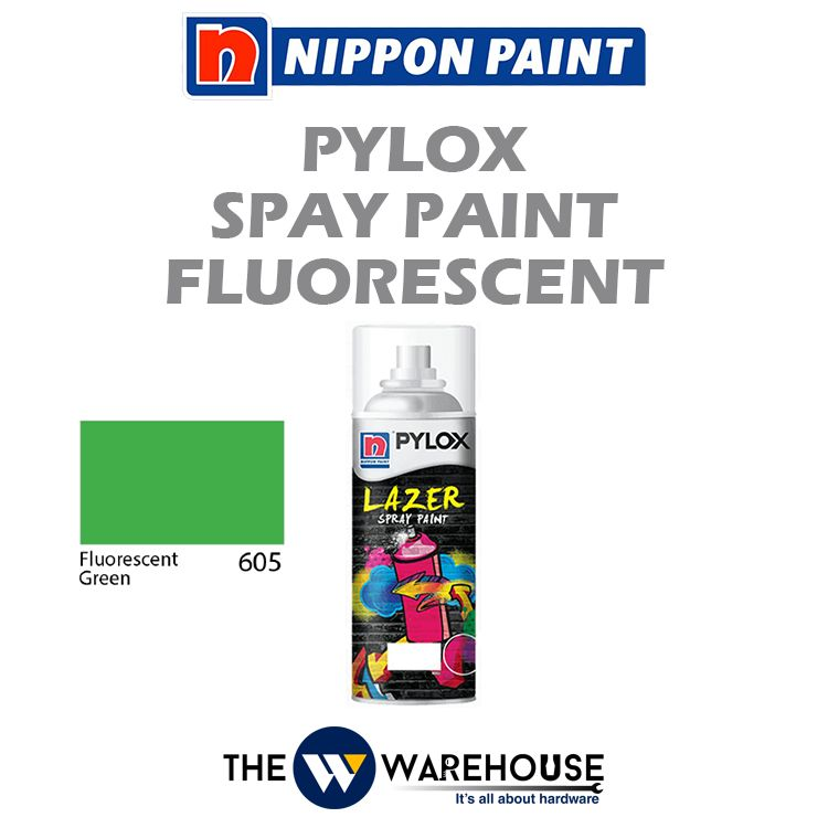 Nippon Pylox Spray Paint Fluorescent Green 605