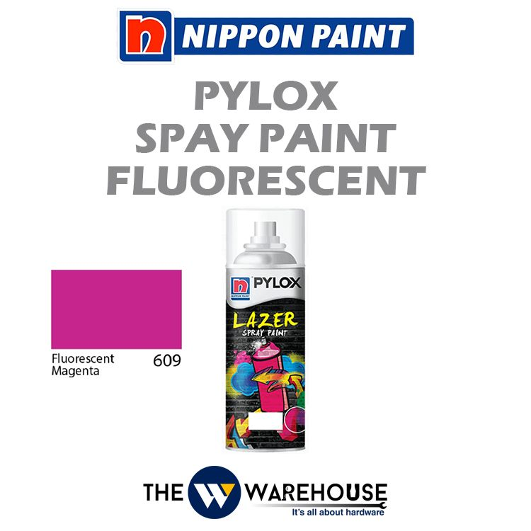Nippon Pylox Spray Paint Fluorescent Magenta 609