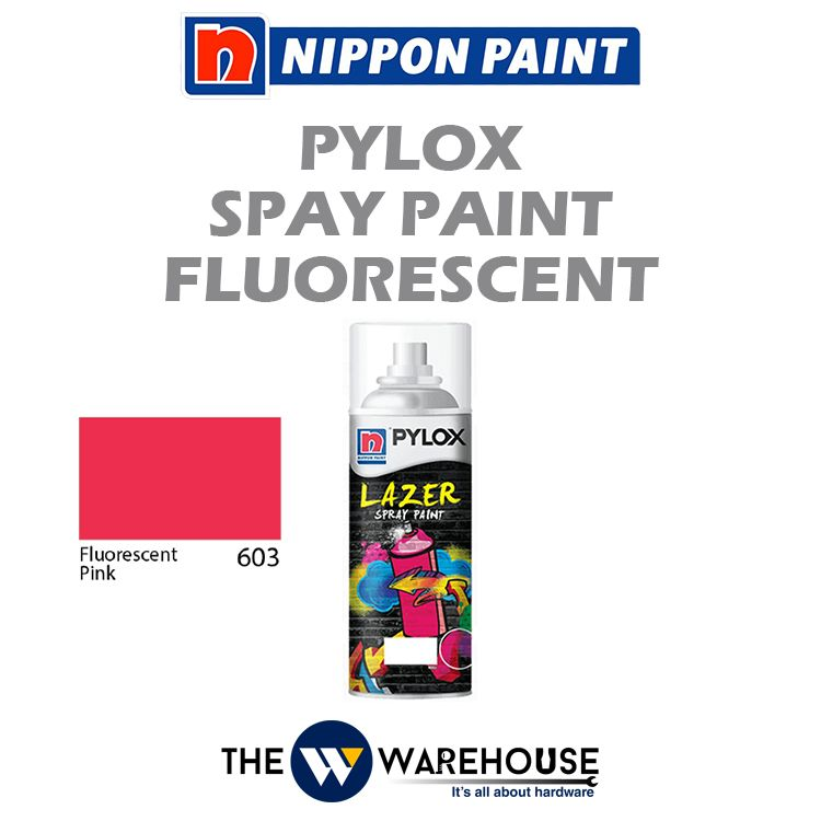 Nippon Pylox Spray Paint Fluorescent Pink 603