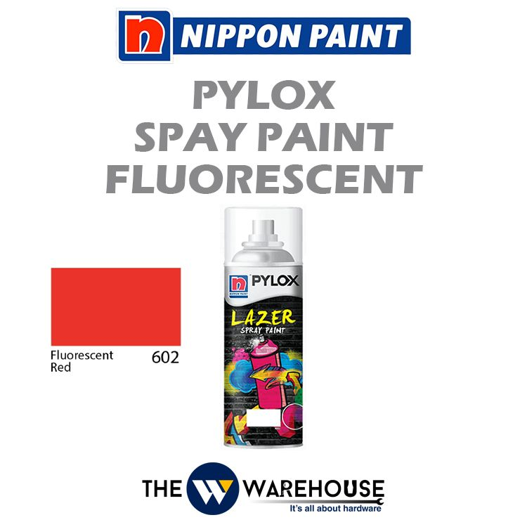 Nippon Pylox Spray Paint Fluorescent Red 602