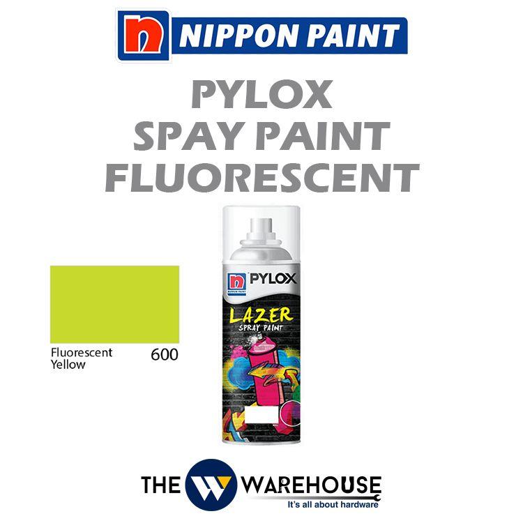 Nippon Pylox Spray Paint Fluorescent Yellow 600