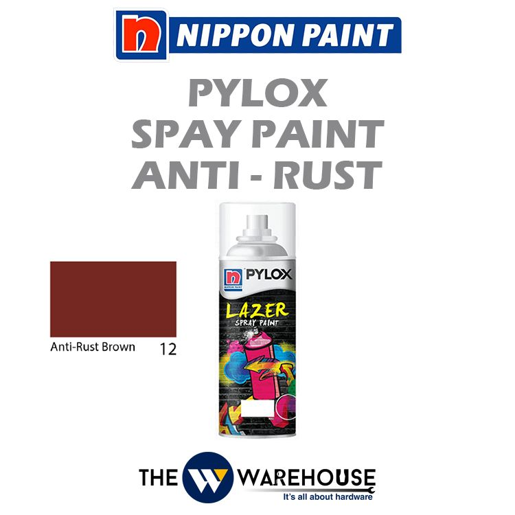 Nippon Pylox Spray Paint Heat Anti-Rust Brown 12