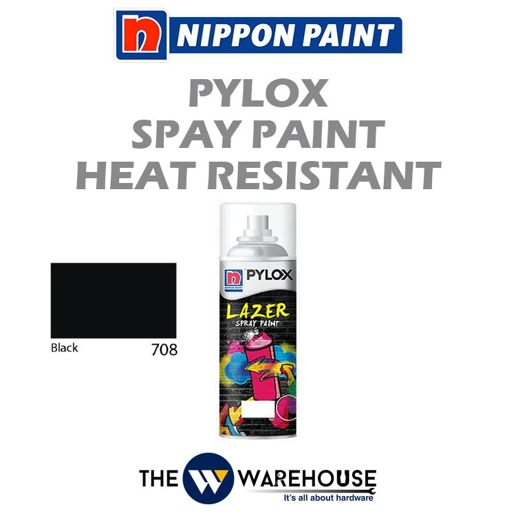 Nippon Pylox Spray Paint Heat Resistant - Black 708